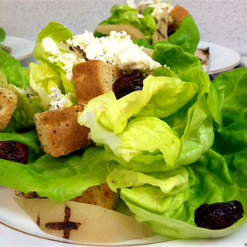 Grilled Pear Cherry Chicken Blue Cheese Salad