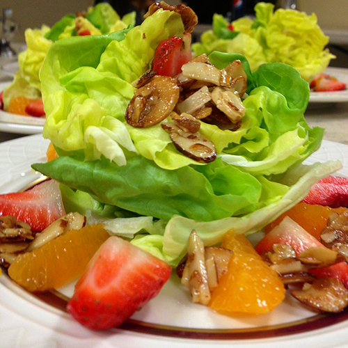 Tangerine Strawberry and Agave Almond Salad